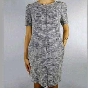 Loft stretch boucle tweed short sleeve dress